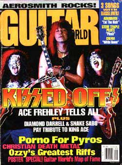 Ace on the cover of Guitar World