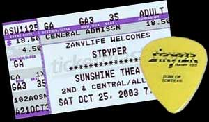 Ticket stub 2003