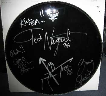 Ted Nugent 2006 bass drum head